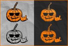 Halloween SVG, Rocking Pumpkin SVG, Jack O'Lantern Rocks Product Image 2