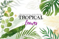 Watercolor & Gold Tropical Leaves Collection Product Image 1