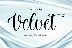 Velvet - a simply script font Product Image 1