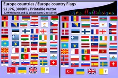 Europe countries / Europe country Flags / country flag / 300DPI / Vector flags / flag clipart and silhouette / printable flag/ digital flag Product Image 4