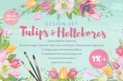 Floral Design Pack watercolor & pastel Product Image 1