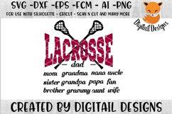 Lacrosse SVG - Silhouette - Cricut - Scan N Cut Product Image 1