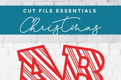 Christmas font - a Candy Cane font with candycane letters Product Image 2