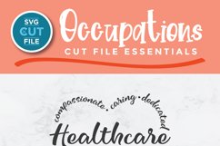 Healthcare worker svg, a health care worker svg for crafters Product Image 2