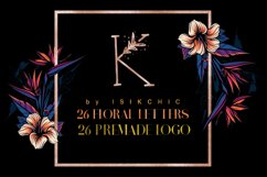MINIMAL FLORAL LETTER AND LOGO KIT Product Image 1