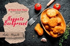 20 Photos Chicken nuggets and strips with spices. Background Product Image 1