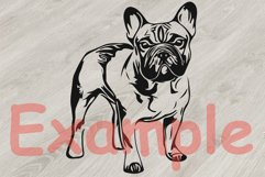 French bulldog SVG, cute Dog paw SVG, Family Pet, 817S Product Image 3