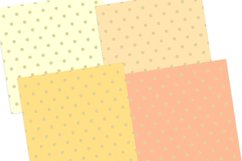 Gold Pastel Polka Dot Pattern Digital Papers Product Image 4