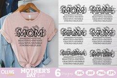 Mother's Day SVG Bundle, Mom Floral SVG Bundle Product Image 1