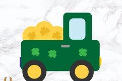 Pot Of Gold Truck St Patricks SVG Cut File Product Image 2