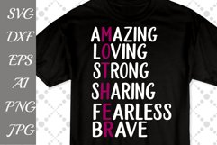 """Mothers t shirt Svg: """"AMAZING MOM SVG"""" Mom cut file,Love Mom Svg,Mothers Day Quote Product Image 1"""