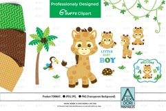 Giraffe PNG, Baby Boy Party, Animal PNG, Clipart Product Image 1