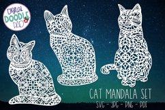 Mandala Cat SVG Set For Cricut & Silhouette Product Image 2