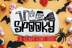 Spooky Dudes - A Scary Silly Halloween Font & Dingbat Duo! Product Image 1