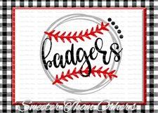 Baseball SVG, Softball Svg, Badgers svg, Badgers Baseball Product Image 1