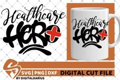 Healthcare Hero svg, Stethoscope svg, Medical svg, Nurse svg Product Image 1