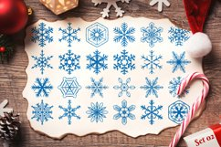 500 Snowflake Vector Ornaments Product Image 5