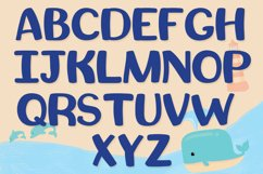 Beach Font | Summer Font - Squishy Font & Bonus Extras Product Image 4