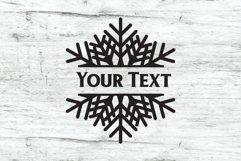 Snowflake SVG | Split Monogram SVG Product Image 5
