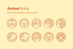 Animal 10 Icons Product Image 1
