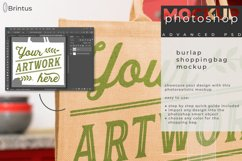 Photoshop mockup Burlap shopping-bag, tote bag, jute bag Product Image 2