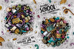 School Cartoon Doodle Big Pack Product Image 6