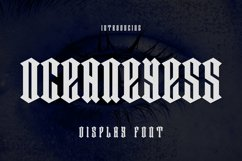 OCEANEYESS Font Product Image 1