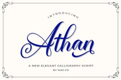 Athan Script Product Image 1