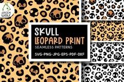 Skull leopard print svg Skull svg Halloween pattern Creepy Product Image 1