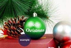 Ornament Mockup, Green Bauble Mockup, Christmas ball mock up Product Image 3