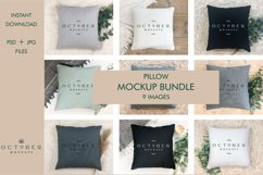 Pillow mockup bundle in PSD and JPG | Sublimation blanks Product Image 1