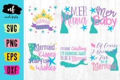 Mermaid SVG Cut File Bundle Product Image 1