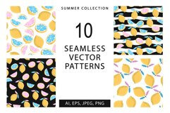 10 seamless summer patterns, 10 banners Product Image 1