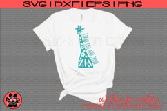 Doodle Giraffe - Stand Tall and Proud | SVG Cut File Product Image 1
