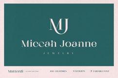 Matterdi   Hi-fashion ligature font Product Image 2