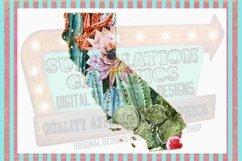 Cactus California Sublimation Digital Download Product Image 1