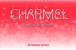 Charmel Love font. Valentine's Day Font. Lovely Heart font. Product Image 1