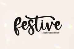 Festive - Handwritten Script Font Product Image 1