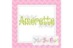 EXCLUSIVE Amorette Font SVG & DXF Cut File Product Image 1