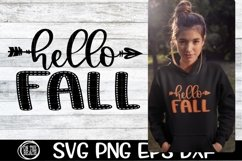 SVG - Fall - Hello Fall - Arrow - SVG PNG EPS DXF Product Image 1