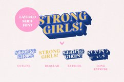 Strong Girls - Layered Serif Font Product Image 3