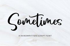 Sometimes - Handwritten Script Font Product Image 1