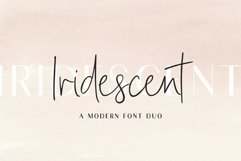 Iridescent | A Modern Font Duo Product Image 1
