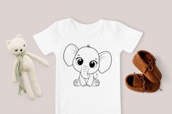 Cute elephant clipart, SVG, PNG, EPS, 300 DPI Product Image 2