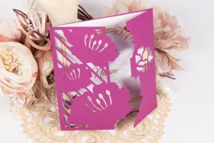 Water Lily Invitation cutting file Product Image 1