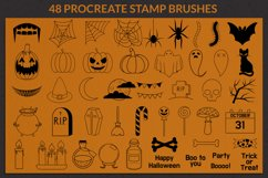Halloween Procreate Stamp Brushes, Autumn stamps Product Image 2