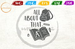 All About That A Plus School Teacher Quote Art Product Image 1
