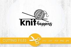 knit happens svg cutting file, svg, dxf, pdf, eps Product Image 1
