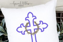 Cross With Crown of Thorns SVG DXF FCM LL106 Product Image 2