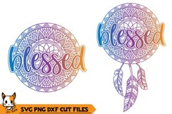 Blessed Boho Dream Catcher - Mandala SVG PNG DXF Cut Files Product Image 1